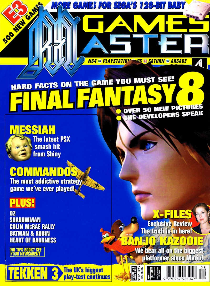 GamesMaster Issue 071 (August 1998)