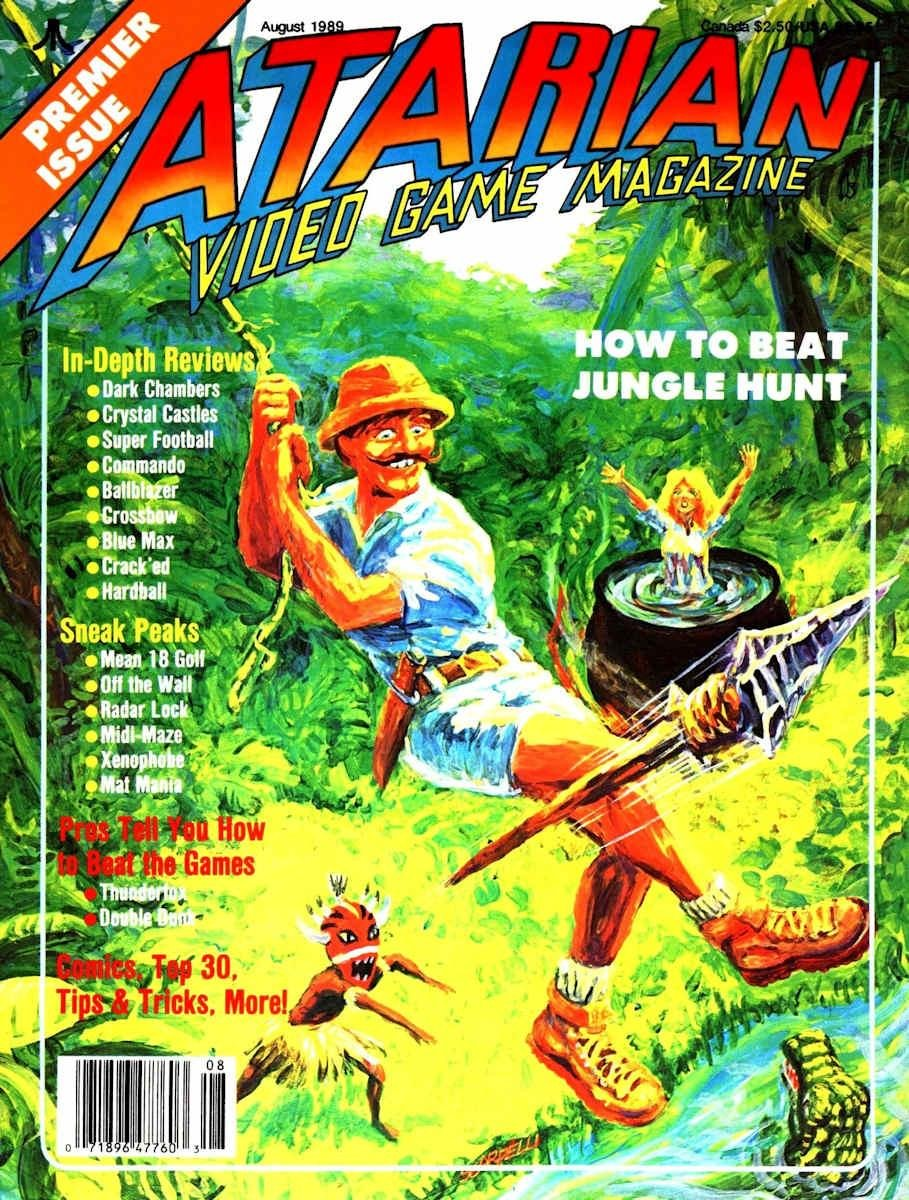 Atarian Video Games Issue 02 Aug 1989