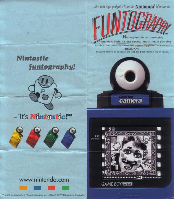 GameBoy Camera Pamphlet(Outside)
