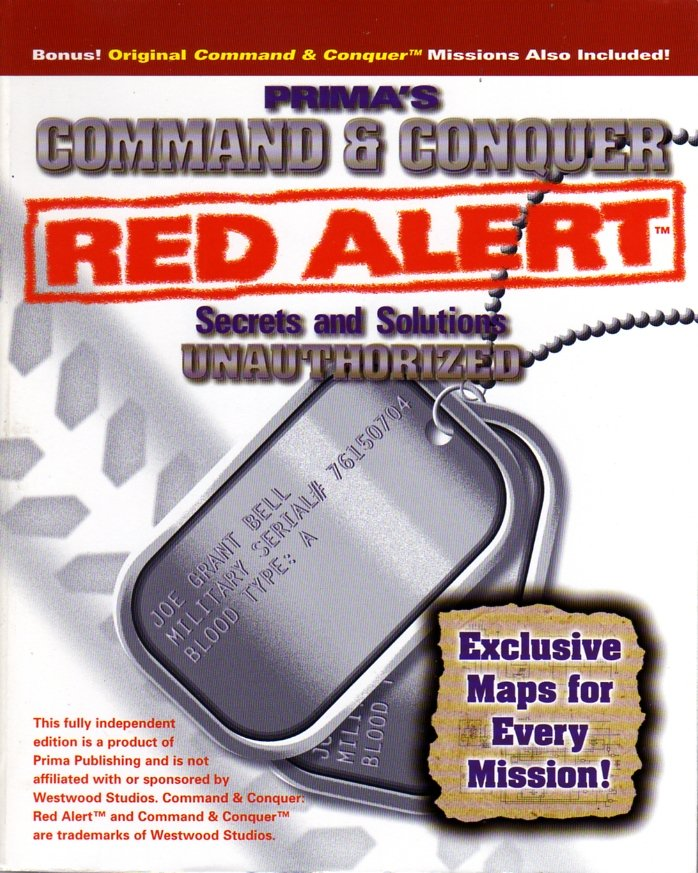 Command & Conquer Red Alert Secrets And Solutions Unauthorized