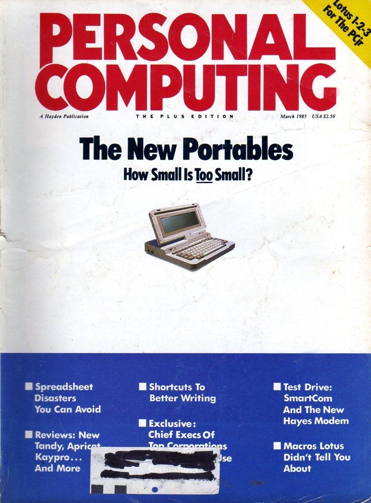 Personal Computing Vol 09 No 03 March 1985