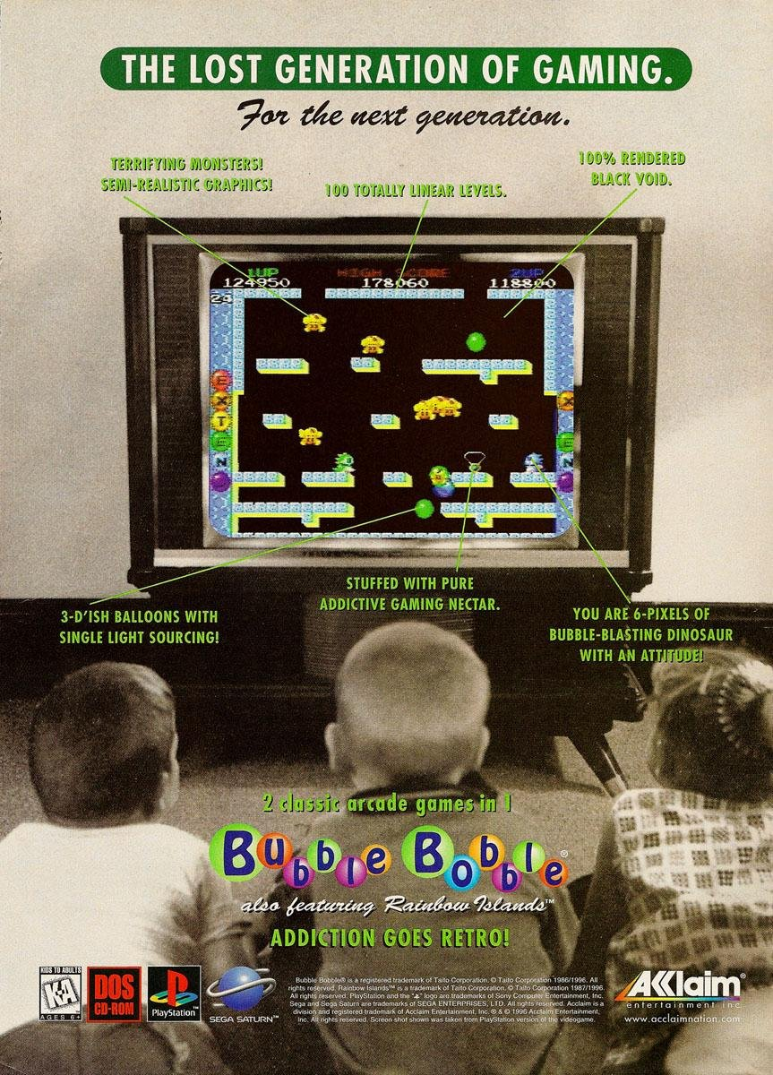 Bubble Bobble (PC - PSX - SAT)