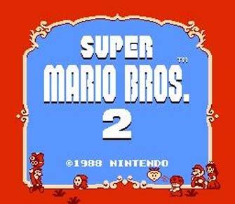 Super Mario Bros. 2 Title Screen