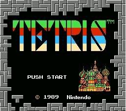 Tetris Title Screen