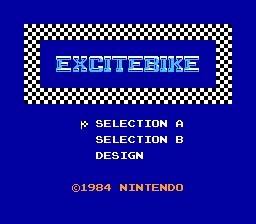 Excitebike Title Screen