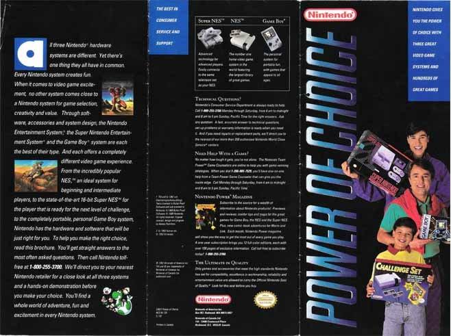 Power of Choice Nintendo Brochure