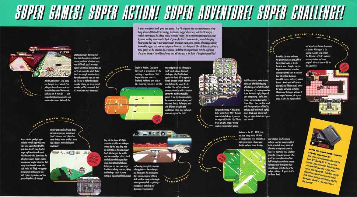 Super Nintendo Brochure