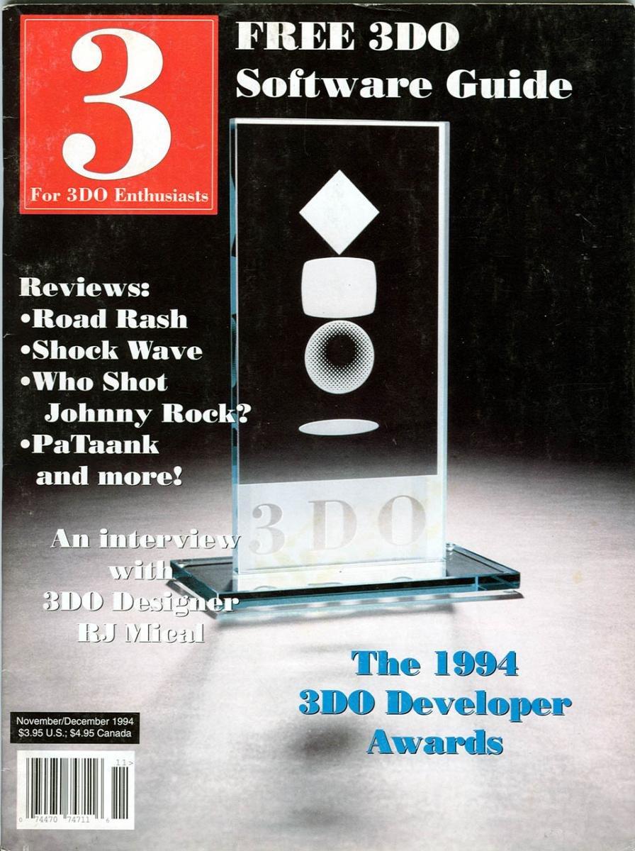 3 For 3DO Enthusiasts Issue 01 Nov Dec 1994