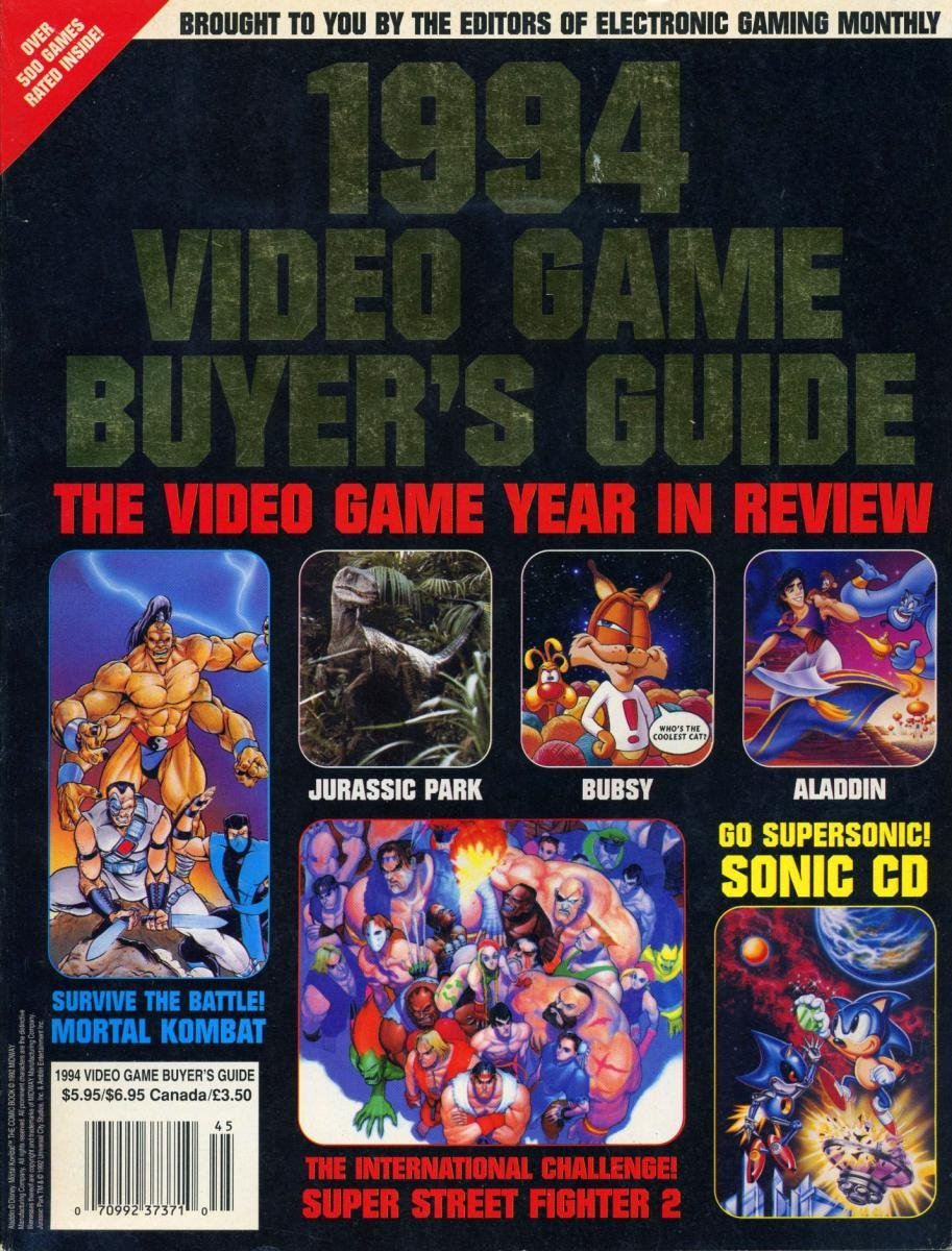 1994 Video Game Buyer's Guide
