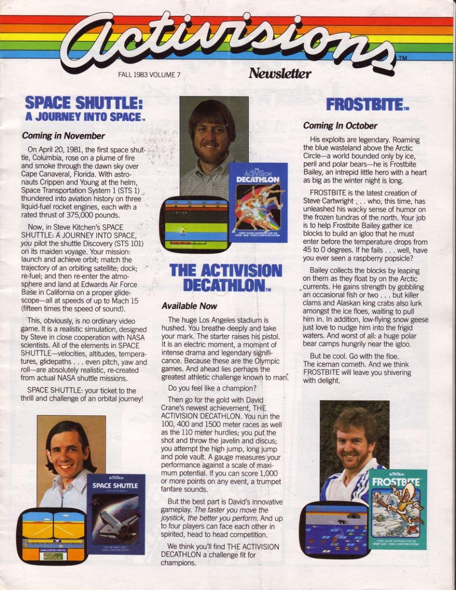 Activisions 7 Newsletter Fall 1983