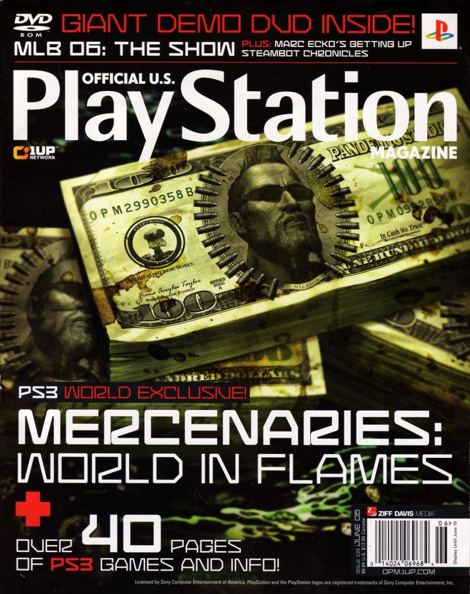 Official U.S. PlayStation Magazine Issue 105 (June 2006) (cover a)