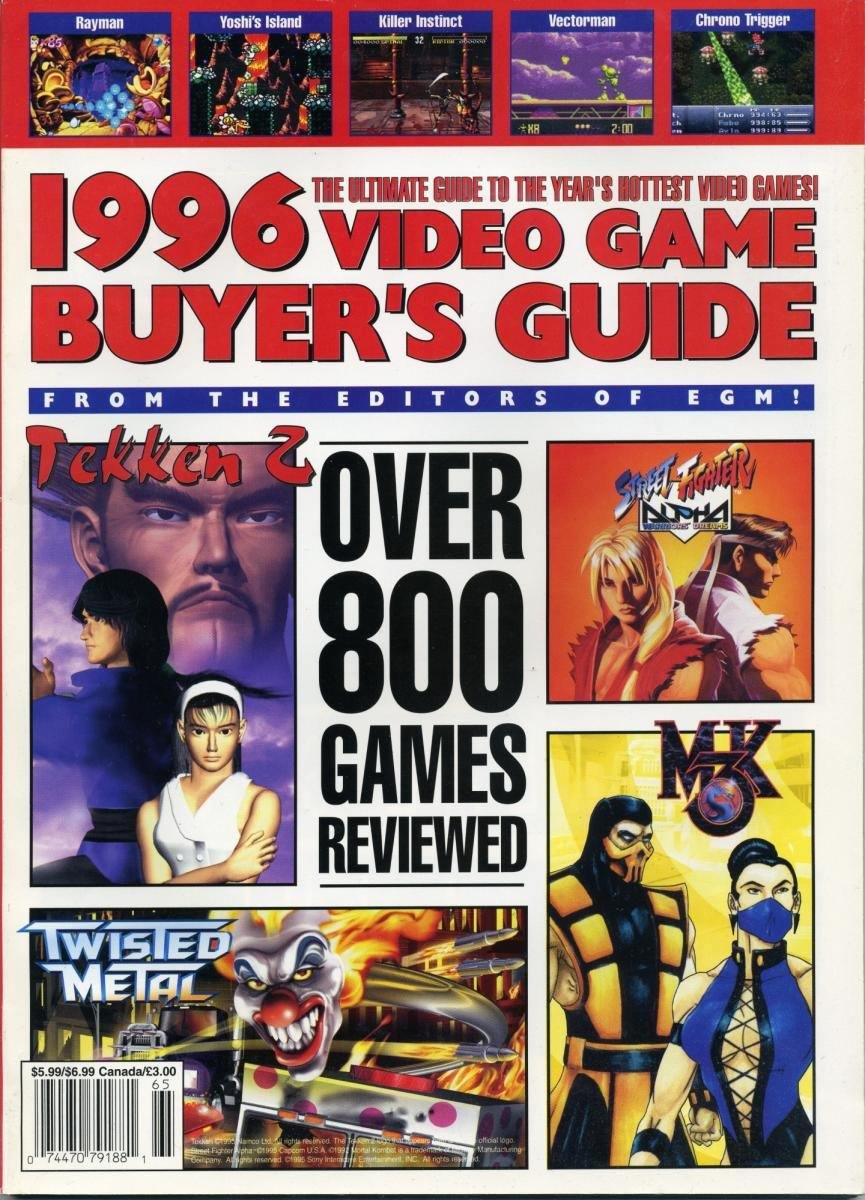 1996 Video Game Buyer's Guide