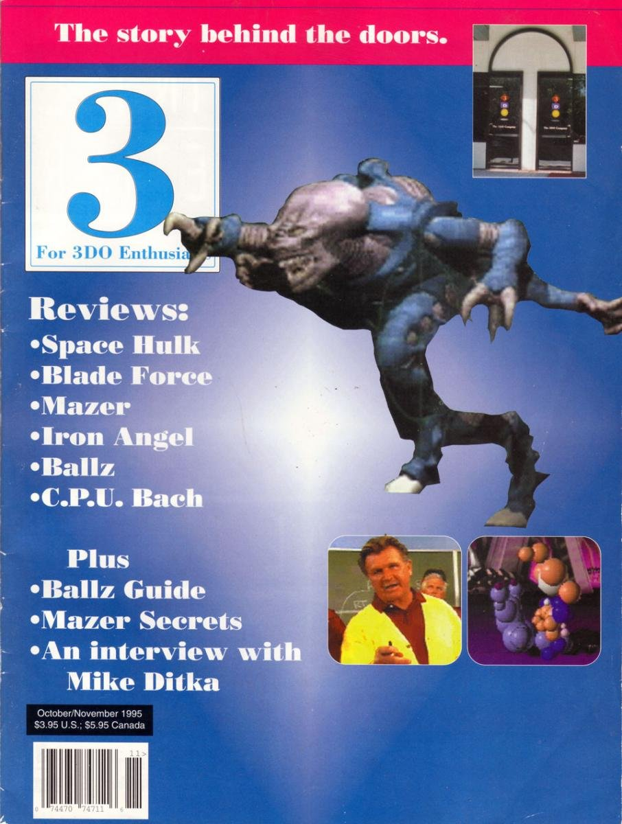 3 For 3DO Enthusiasts Issue 06 Oct Nov 1995