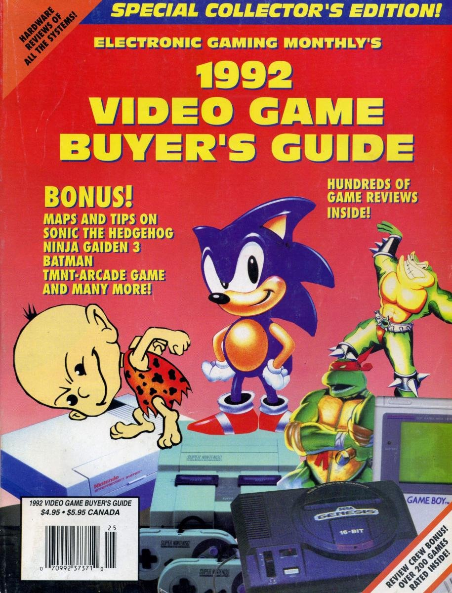 1992 Video Game Buyer's Guide