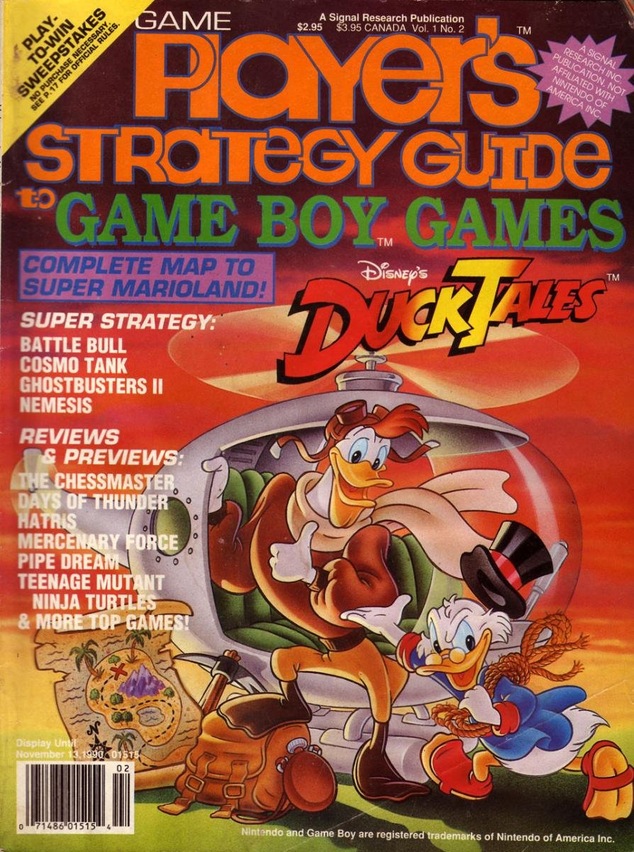 Game Players Strategy Guide to Game Boy Games Volume 1 Issue 2 September/October 1990