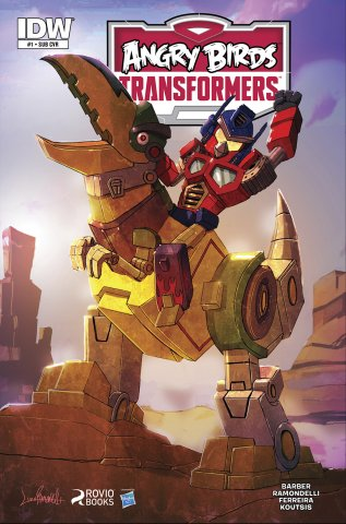 Angry Birds Transformers 01 (November 2014) (subscriber cover)