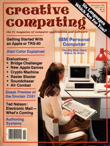 Creative Computing Vol. 07 No. 11 November 1981