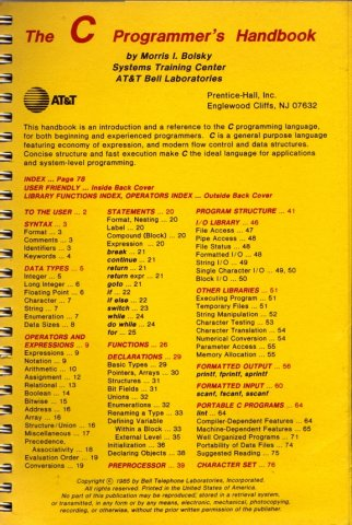 C Programmers Handbook, The