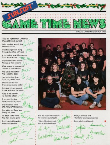 Sunsoft Game Time News 05 Christmas 1989