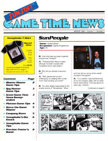 Sunsoft Game Time News 03 Winter 1989