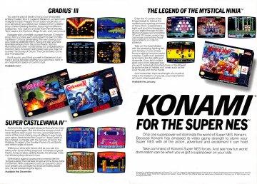 Konami SNES pg 3-4 (of 4): Gradius III, Super Castlevania IV, The Legend of the Mystical Ninja