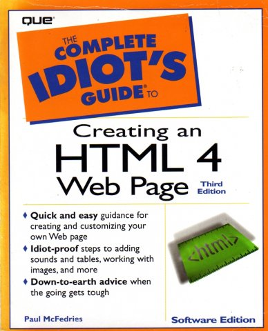 Complete Idiot's Guide to Creating an HTML Web Page (3rd Edition), The