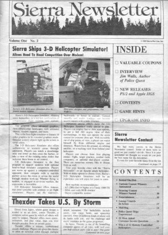 Sierra Newsletter Vol.1 No.2 1987