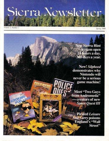 Sierra Newsletter Vol.2 No.1 Spring 1989