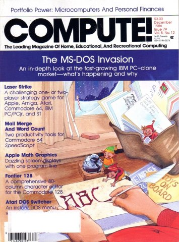 Compute! Issue 079 Vol. 08 No. 12 December 1986
