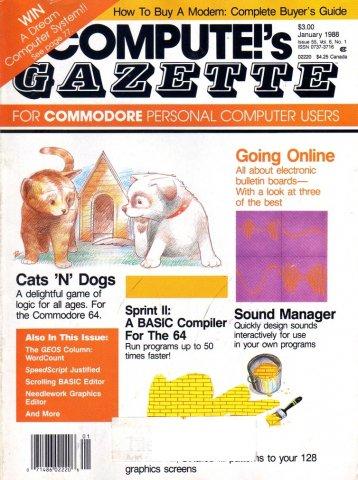 Compute's Gazette Issue 055 Vol. 06 No. 01 January 1988