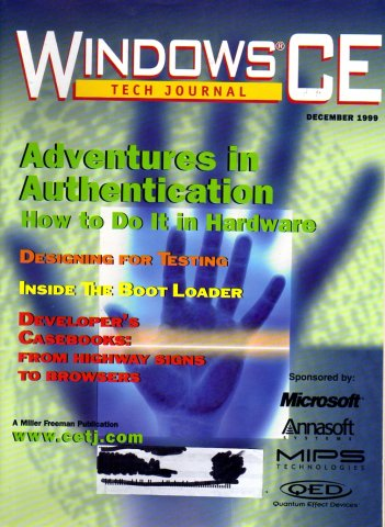 Windows CE Tech Journal Issue 8 Vol. 2 No 4. December 1999