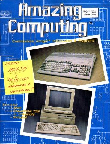 Amazing Computing Issue 012 Vol. 02 No. 03 (March 1987)