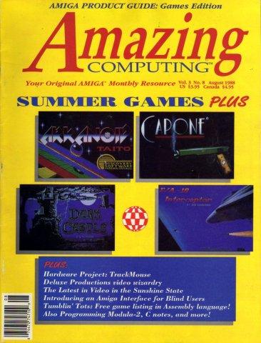Amazing Computing Issue 029 Vol. 03 No. 08 (August 1988)