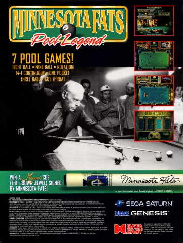 Minnesota Fats Pool Legend