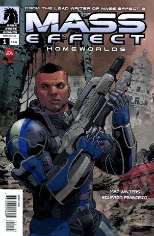 Mass Effect - Homeworlds 001 (cover b) (April 2012)