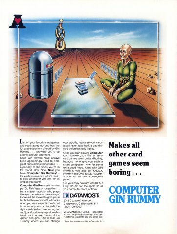 Computer Gin Rummy