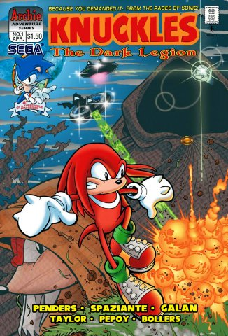 Knuckles the Echidna 01 (April 1997)