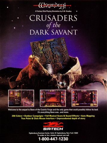 Wizardry: Crusaders of the Dark Savant