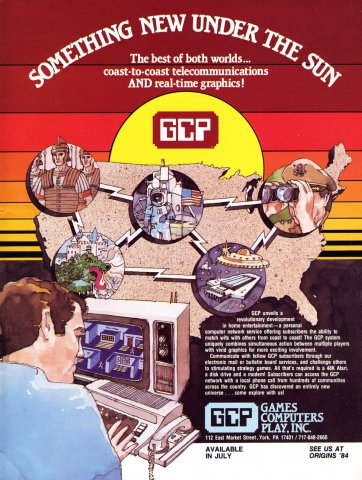 Games Computers Play (GCP)