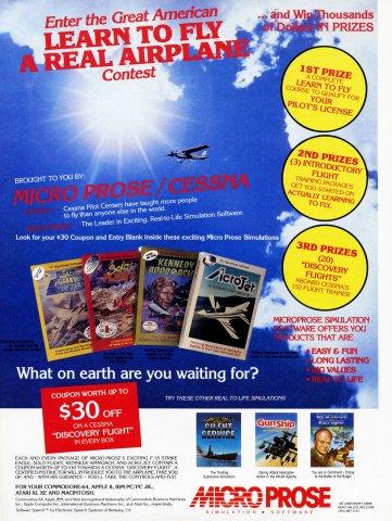 Microprose Flight Sim Contest
