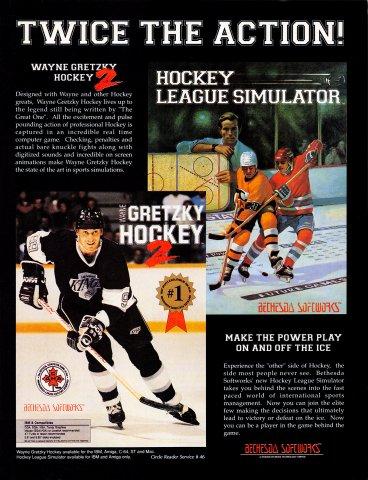 Wayne Gretsky Hockey 2, Hockey League Simulator