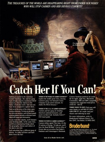 Where in the World is Carmen Sandiego?, Where in the USA is Carmen Sandiego?, Where in Europe is Carmen Sandiego?