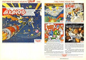 Arkanoid, Acon, Renegade, Bubble Bobble, Sky Shark