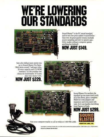 Sound Blaster, Sound Blaster Pro Basic, Sound Blaster Pro