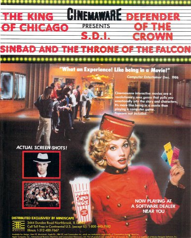 Cinemaware (The King of Chicago, S.D.I., Defender of the Crown, Sinbad and the Throne of the Falcon) (a)
