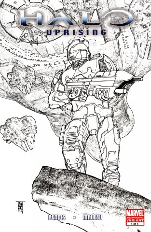 Halo - Uprising 01 (October 2007) (2nd printing variant)