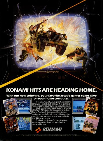 Boot Camp, Contra, Rush 'n' Attack, Jackal