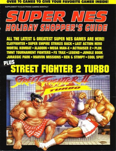 SNES Holiday Shopper's Guide 1993 catalog