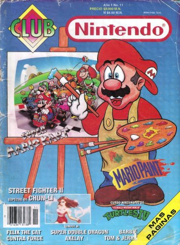 Club Nintendo (Mexico) Volume 1 Issue 11 October 1992