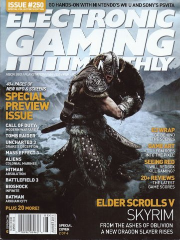 Electronic Gaming Monthly Issue 250 August 2011 Cover 2 of 4
